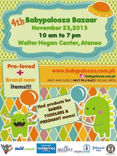 Babypalooza flyer - Nov 23