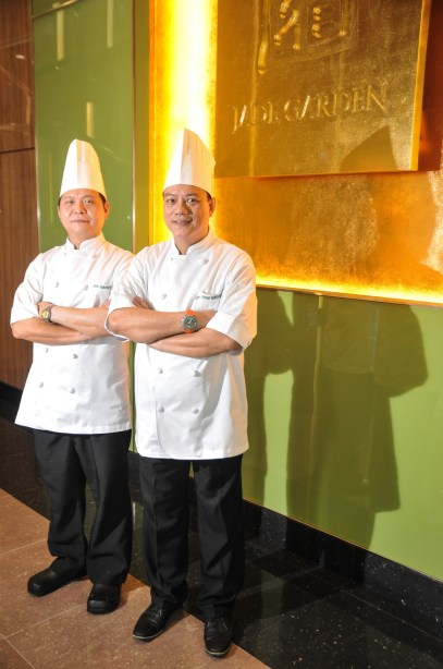 Jade Garden stages a major comeback in the local fine dining scene under the helm of Executive Chef Ho Chi Kwong (right) and Assistant Executive Chef Keith Lau (left)
