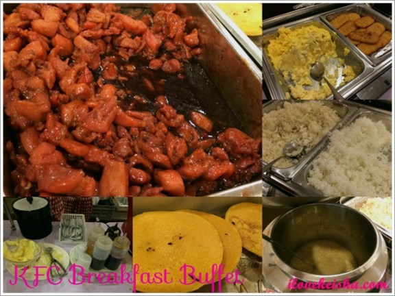kfc breakfast buffet