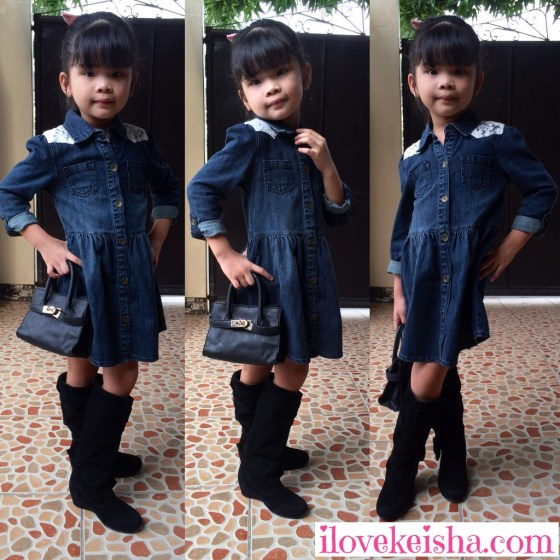 Keisha Wears Motehrcare Denim Dress