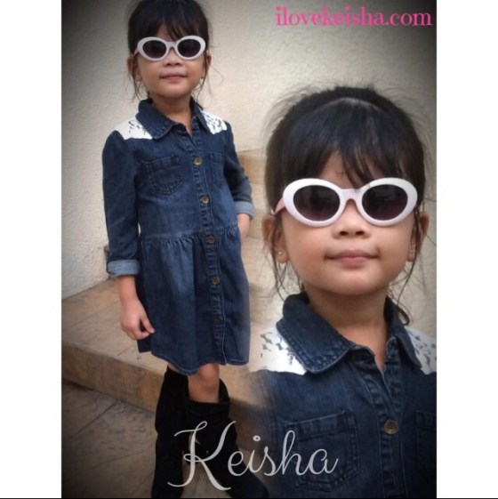Keisha Wears Mothercare Denim Dress for kids