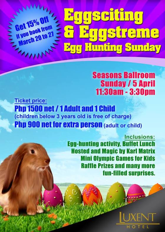 Luxent Hotel easter Egg Hunt Event