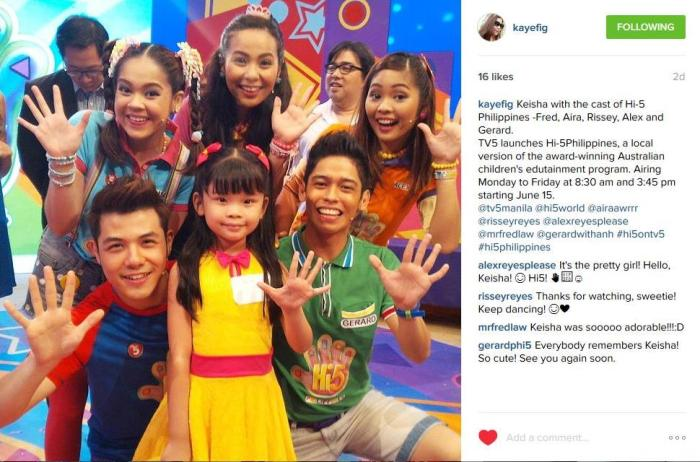 Keisha with Hi-5 upload