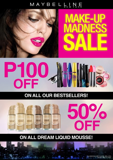 ONLINE POSTER_Maybelline Makeup Madness Sale