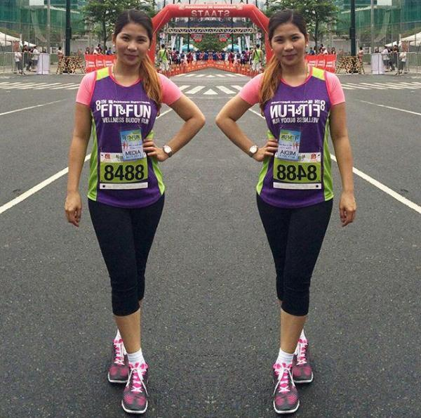 KayeFig OOTD at 8th Robinsons' Fit & Fun Wellness Buddy Run