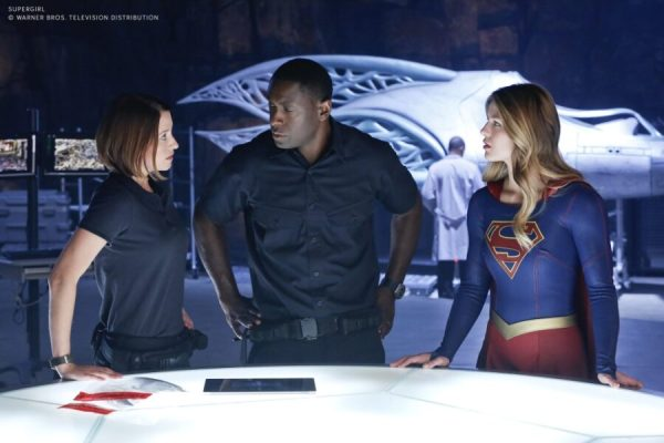 Chyler Leigh as Alexandra _Alex_ Danvers, David Harewood as Hank Henshaw and Melissa Benoist as Kara Danvers