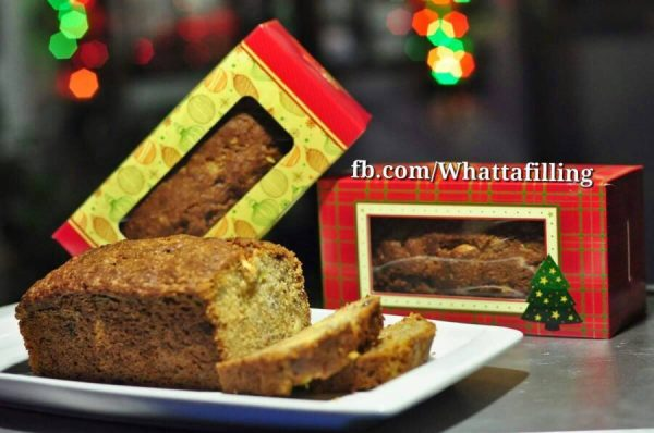 Banana Loaf with Chocolate Chips and Cashew Nuts