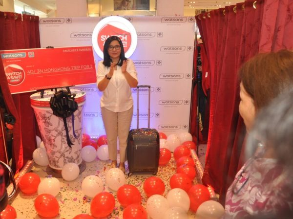 Lorna Tolentino surprises a customer with Trip to Hongkong