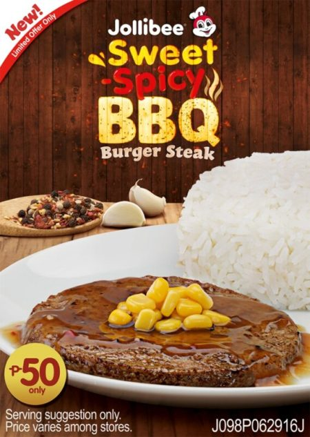Jollibee Sweet-Spicy BBQ Burger Steak