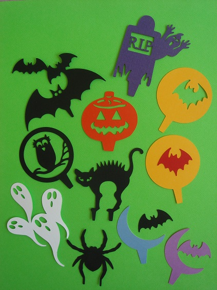 Cupcake Accents - Halloween Collection by Stellar Stationery
