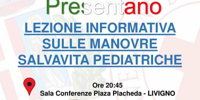 Lezione informativa sulle manovre salvavita pediatriche