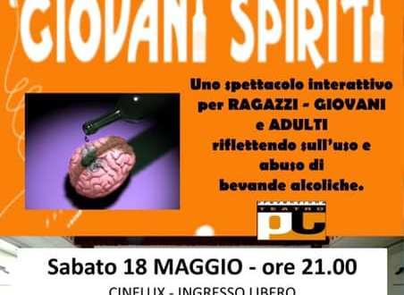 """""""Giovani Spiriti"""" in scena sull'uso e abuso delle bevande alcoliche"""