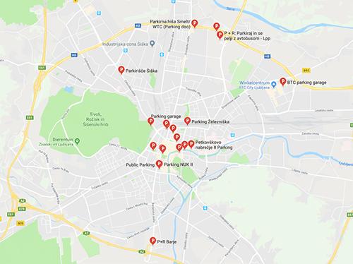 Parkeren in Ljubljana Google Maps