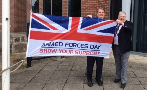 Armed-Forces-Week-Cllr-Michael-Jones-and-Cllr-Gordon-Baxendale