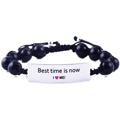Best Time Is Now - Black Onyx Bracelet