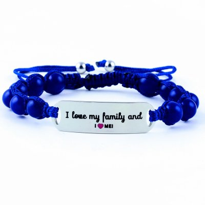 I Love My Family And I Love Me - Marine Blue Lazurite Bracelet