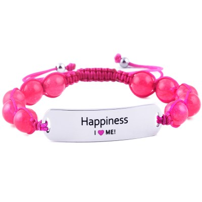 Happiness - Ruby Pink Jade Bracelet