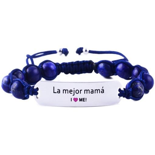 La Mejor Mamá - Marine Blue Lazurite Bracelet