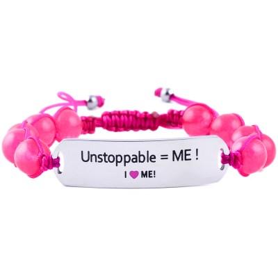Unstoppable = ME! - Ruby Pink Jade Bracelet