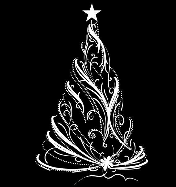 Modern Christmas Tree Decal