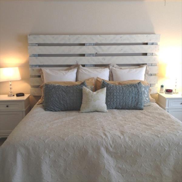 propuestas de cabeceros de cama hechos con palets i love palets - Cabeceros Con Palets