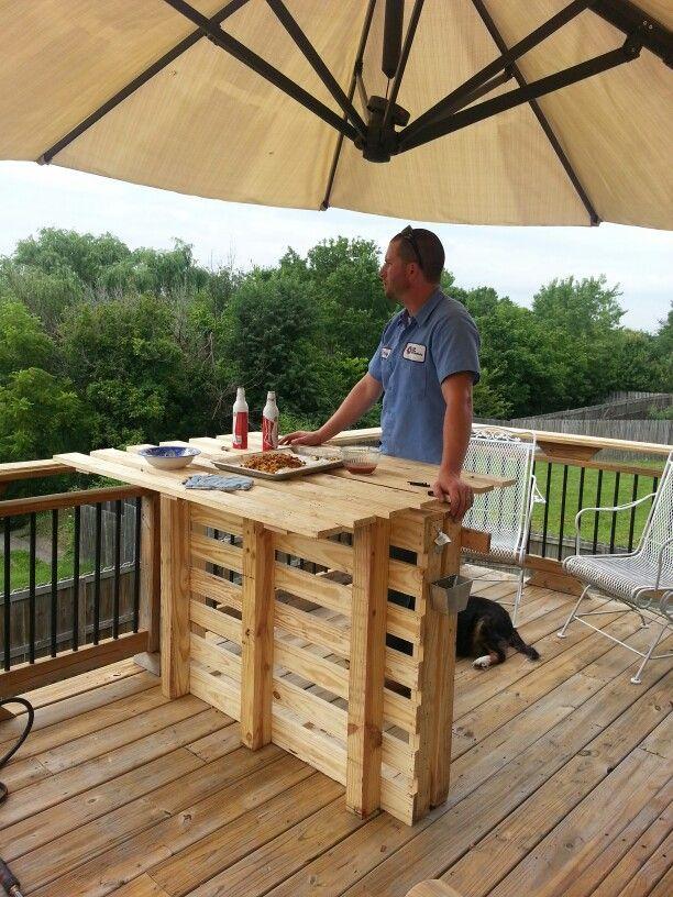 Ideas de mesas de bar para el interior o exterior de la casa  I Love Palets