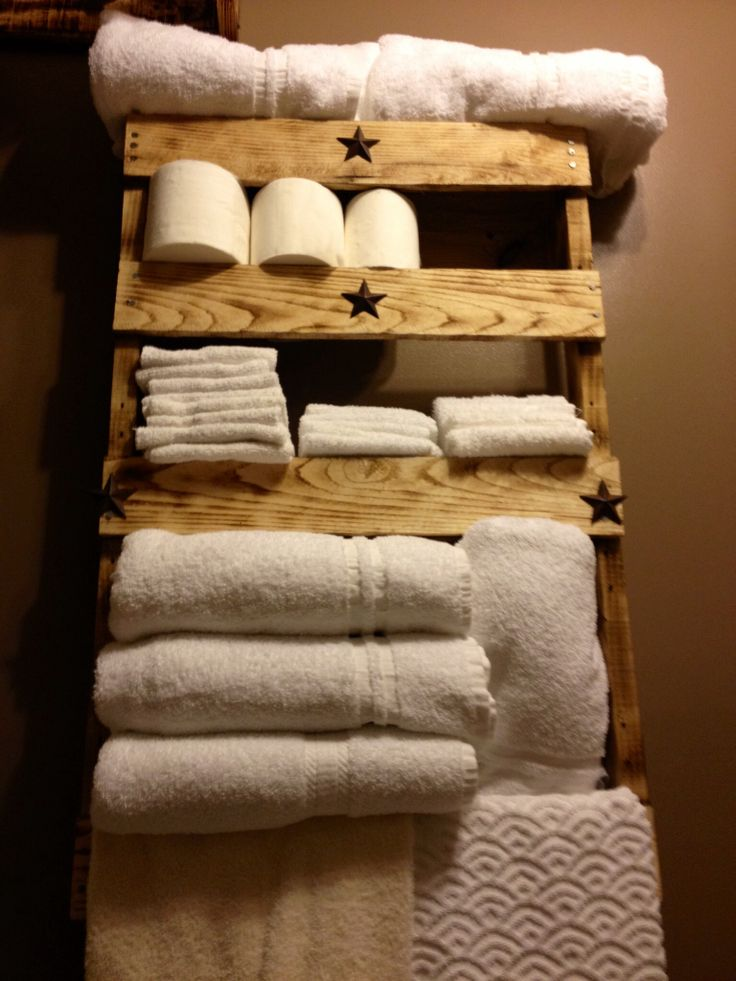 10 toalleros de palets sencillos y maravillosos  I Love