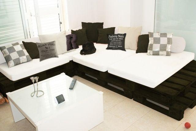 Proyectos de sofs de palets elegantes y sencillos  I
