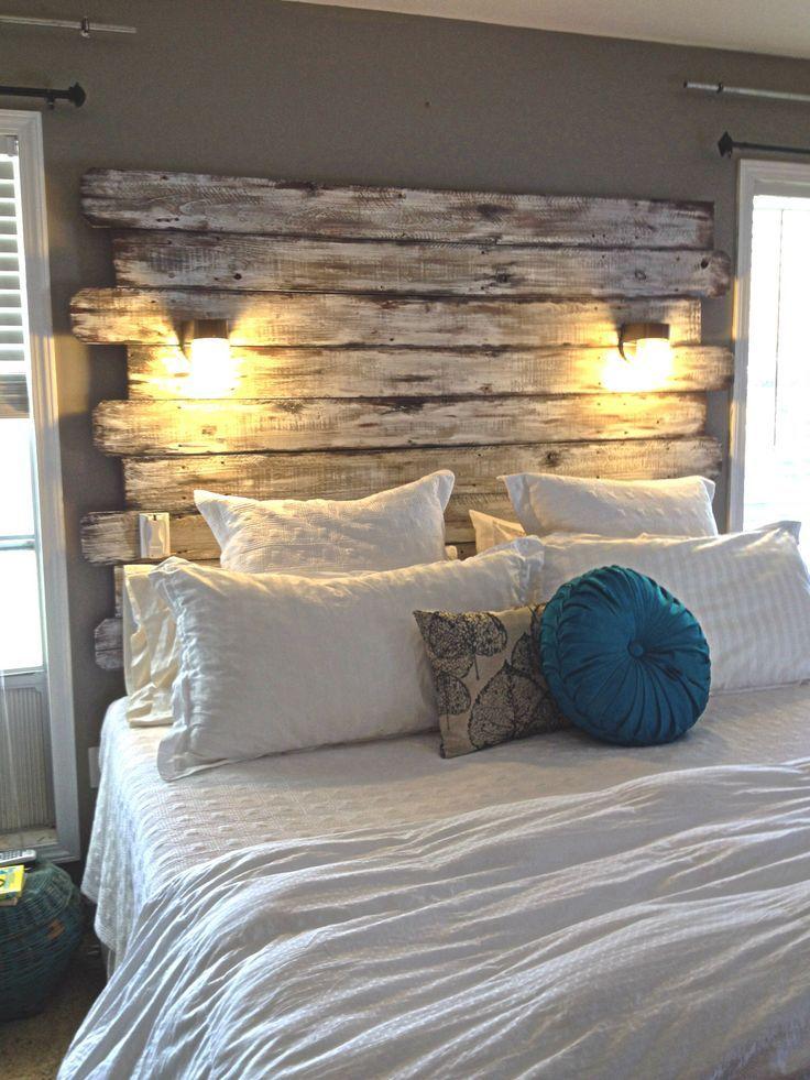 cabeceros de palets sencillos pero elegantes para tu cama