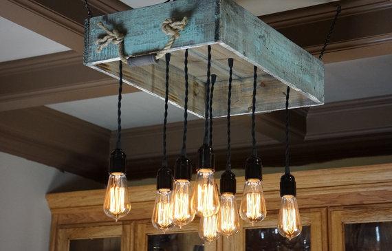 5 propuestas de lmparas de techo de palets elegantes y