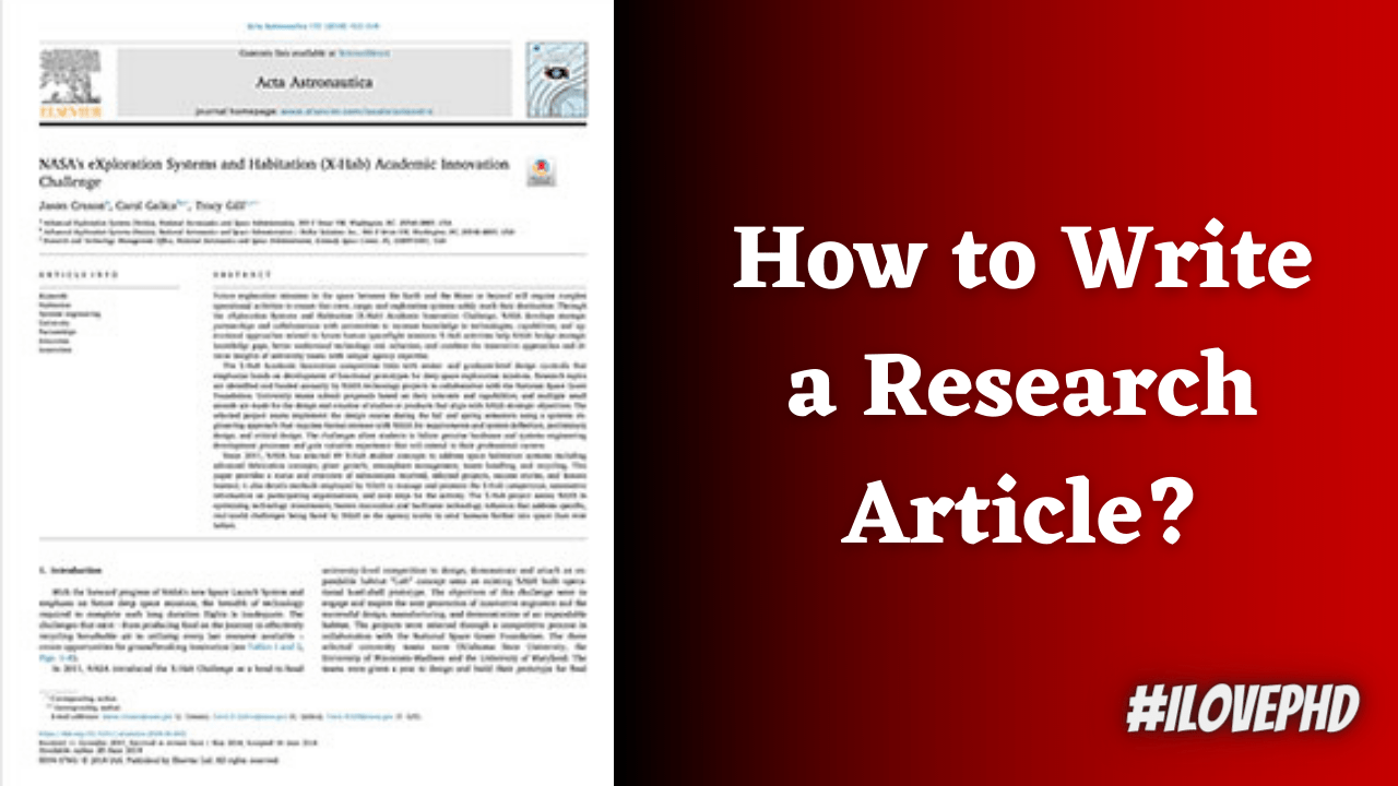 How to Write a Research Paper? Research Paper Format - iLovePhD