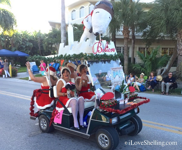 The ShellElf Judge in the 2014 Captiva Golf Cart Parade