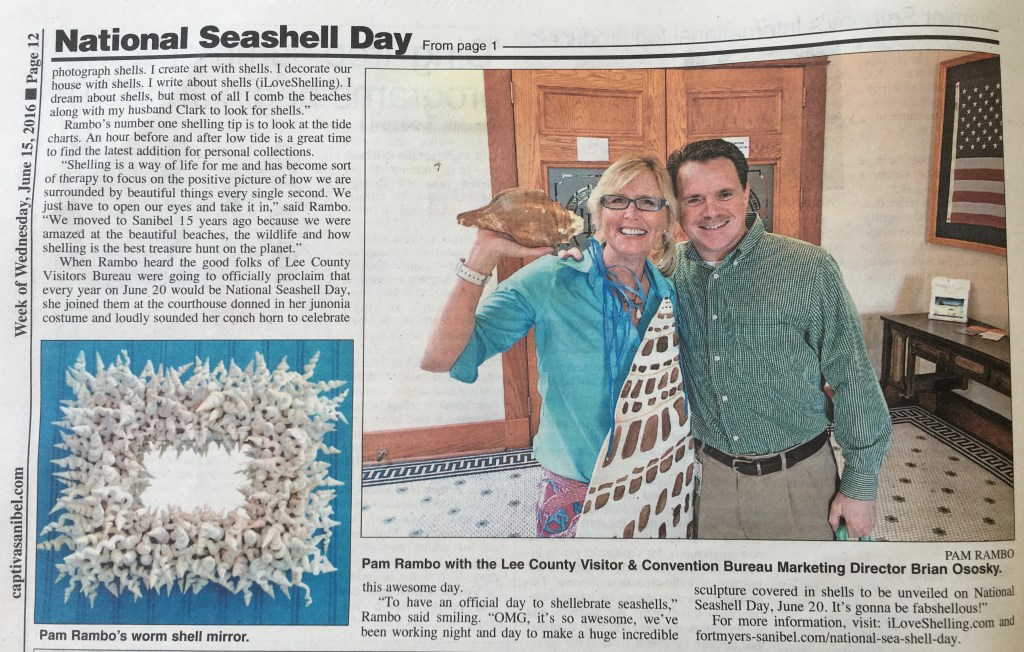 "Sanibel ""Enthusiast"" Helps Shellebrate"