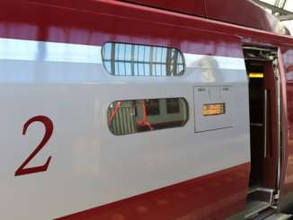 Thalys op station Amsterdam Centraal
