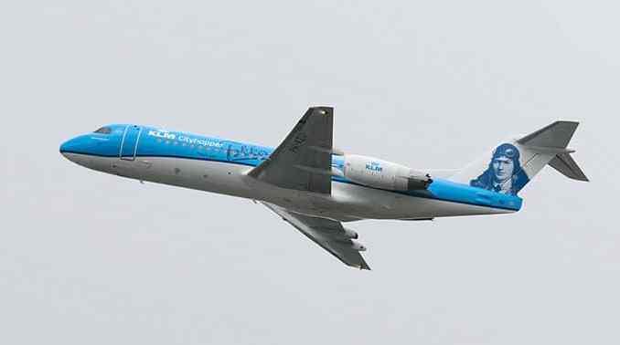 KLM vliegtuig fokker stickers