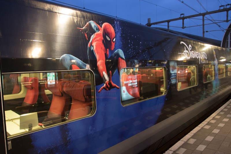 Thalys met Disneyland Parijs thema (Spiderman)