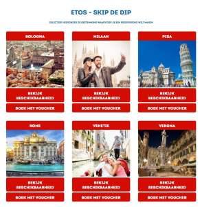 Etos stedentrip Italië: skip de dip