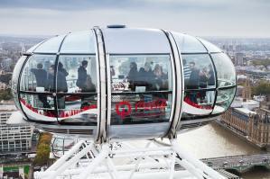 Londen Eye reuzenrad cabine