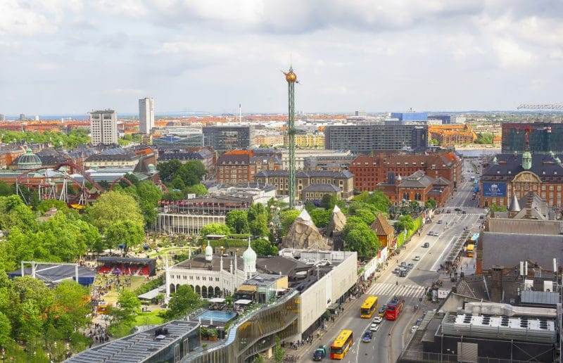 Tivoli in Kopenhagen Denemarken