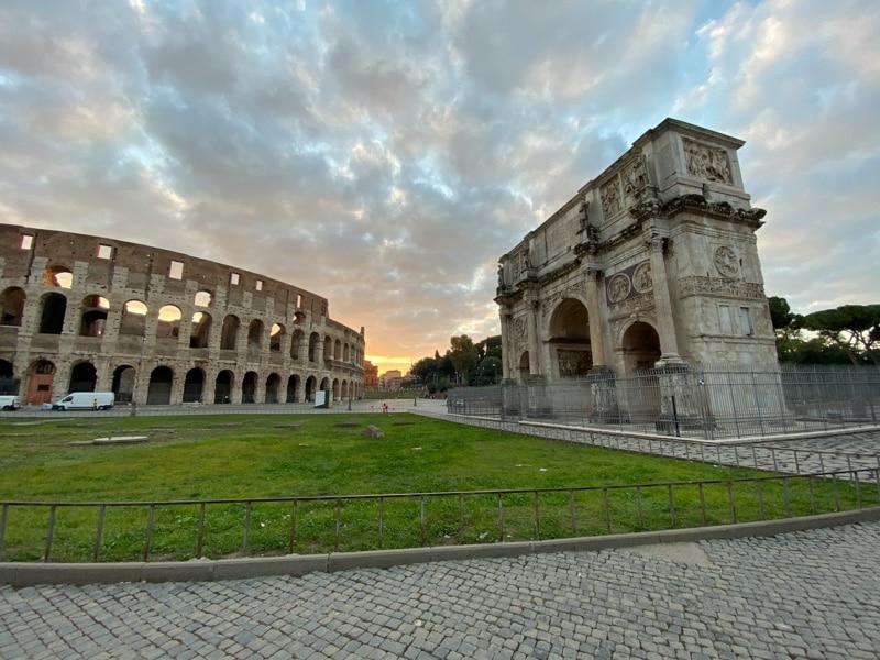 Colosseum met Boog van Constantijn