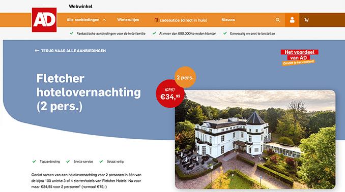 Fletcher aanbieding AD webwinkel