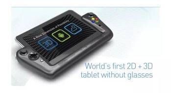 WikiPad : la tablette tactile 3D sans lunettes sous Android ICS en images et vidéo au CES 10