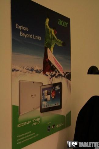 Acer Iconia Tab A510 : photos et caractéristiques de l'Iconia Tab A510 au MWC 9