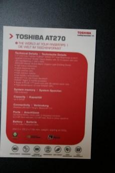 Vidéo tablette Android Toshiba AT270 & AT300 lors de l'IFA de Berlin 2