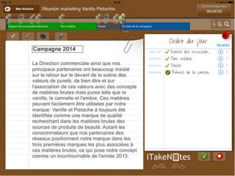 [Nouveauté] Facilitez vos réunions avec l'application iTakeNotes sur iPad 1
