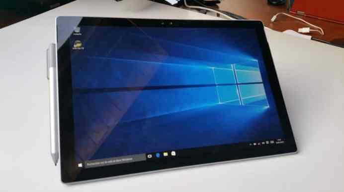 Test tablette Microsoft Surface Pro 4 Windows 10