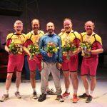 De Marathon; in sportkledij naar een première