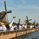 70 breakers vestigen nieuw wereldrecord 'windmills' bij Kinderdijk
