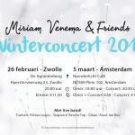 Wegens groot succes: Winterconcert 2018 van Miriam Venema & Friends