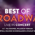 Pia, Willemijn, Celinde, Stanley en Freek in Best of Broadway